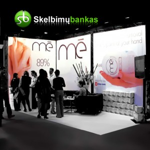 X stendų sistema parodoms, prezentacijoms, konferencijoms, reklamai