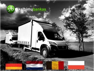 į / iš Belgijos / Olandijos / Vokietijos / Lenkijos į Lietuvą