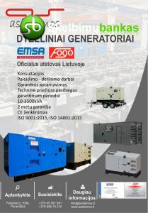 Dyzeliniai generatoriai EMSA/FOGO