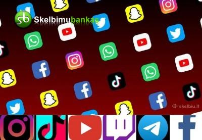 Instagram, Tiktok, Facebook bei kitos soc. paslaugos