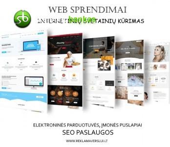 Svetainių ir elektroninių parduotuvių kūrimas. web sprendimai