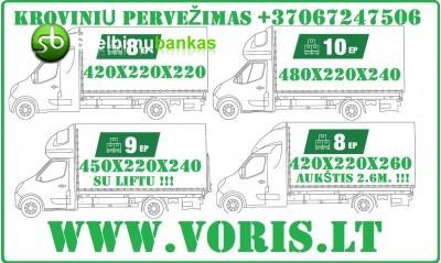 Krovinių pervežimas: iš Europos, į Europą.